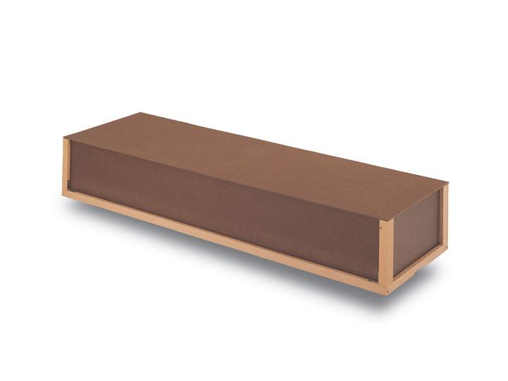 The standard cremation casket