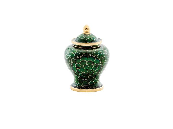 Cloisonne%cc%81 dynasty jade keepsake urn