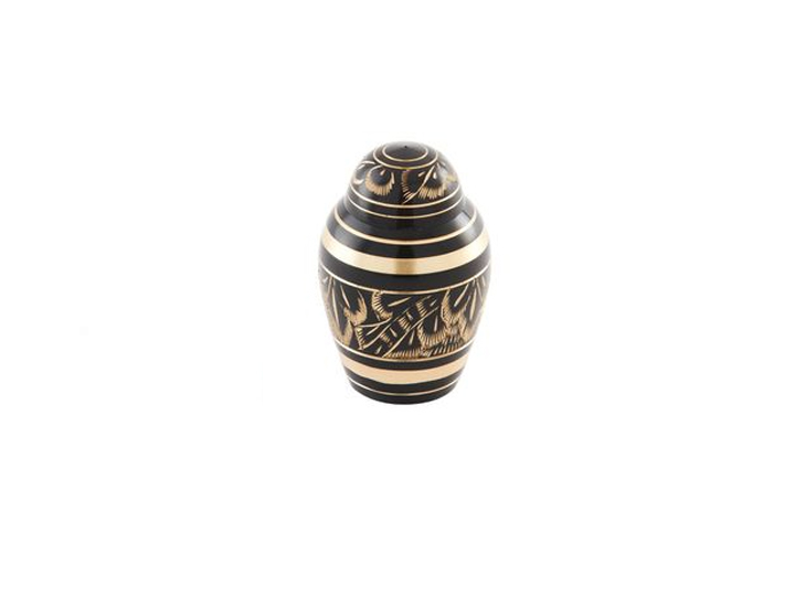 Midnight ornate keepsake urn