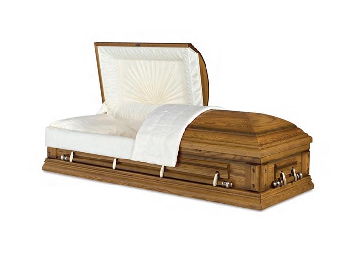 Norwood ceremonial oak rental casket