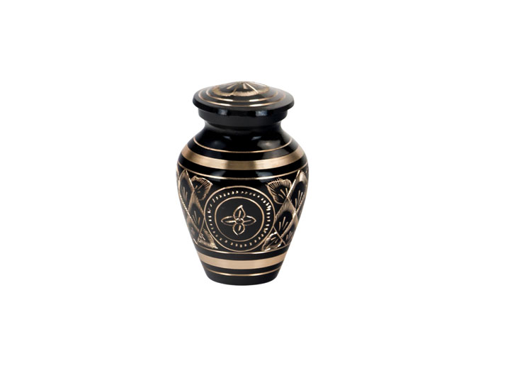 Black elegance keepsake urn