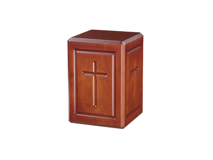 Calvary dark cherry finish urn