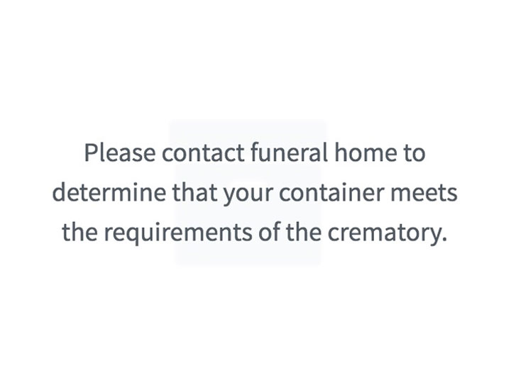 Provide my own cremation container