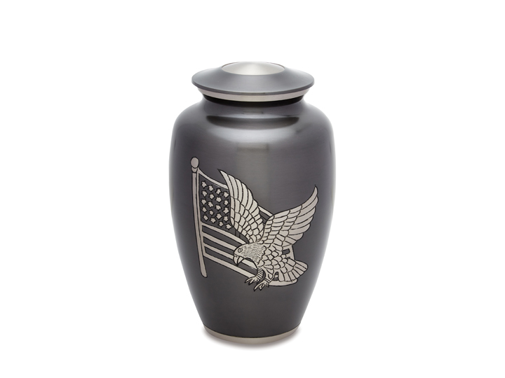 Partriotic collection urn