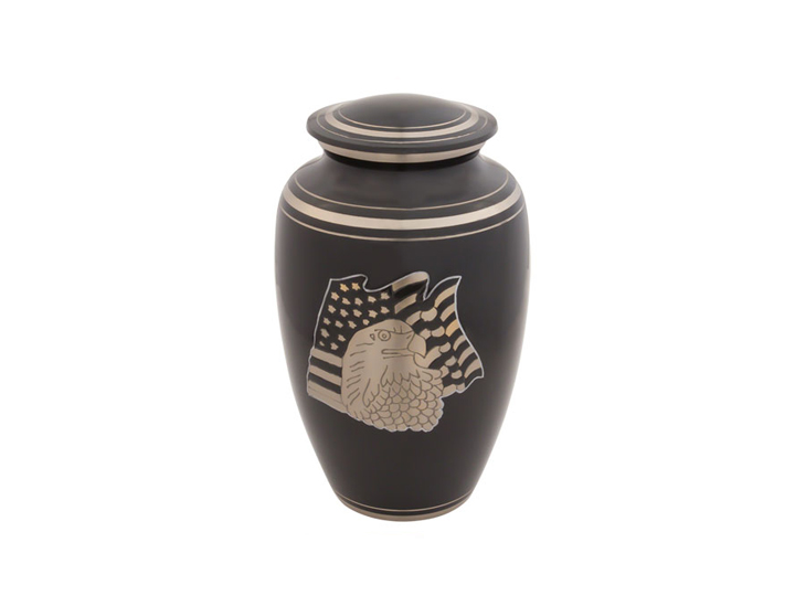 American eagle brass urn