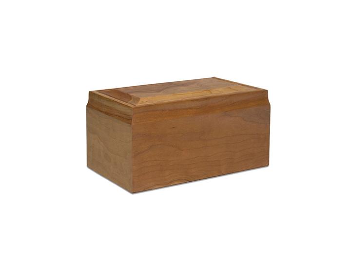 Cherry oak urn
