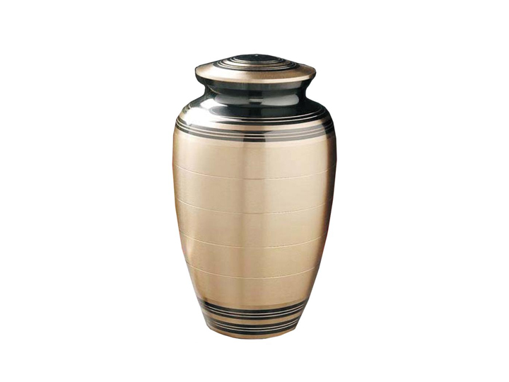 Classic bronze slate urn
