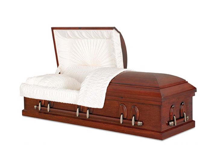 Endicott burial casket
