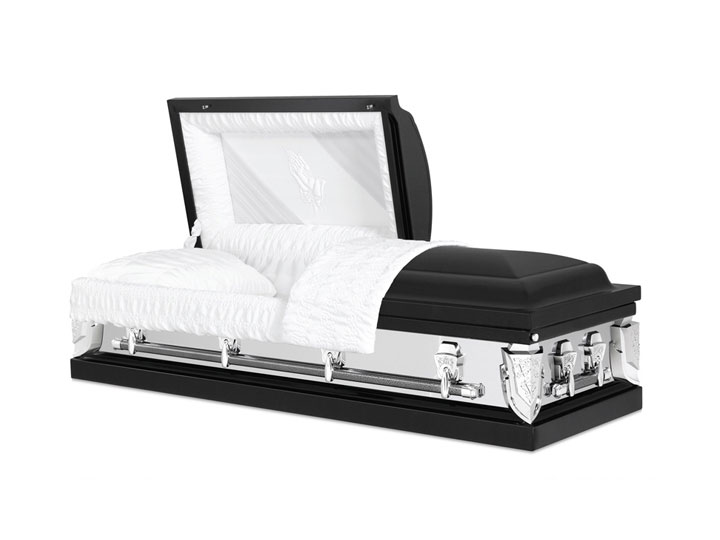 Essex ebony burial casket