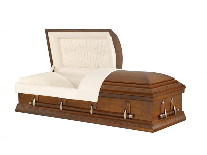 Harris poplar burial casket