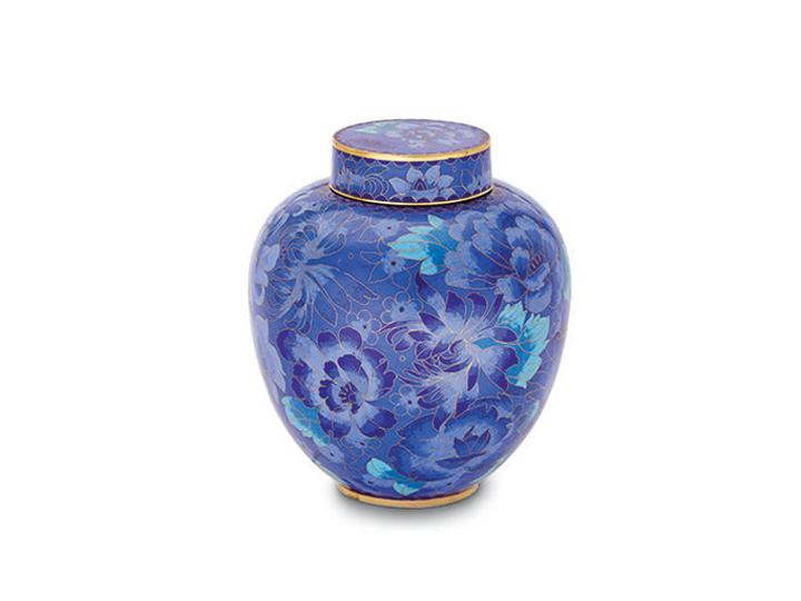 Wilbert direct larkspur cloisonne urn