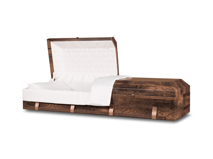 Emerson rustic cremation casket