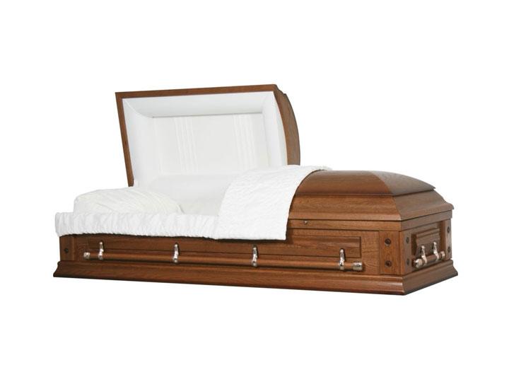 Oakwood oak cremation casket